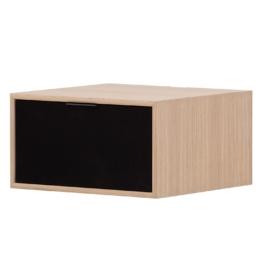 TV-Board Danilo - Eiche Dekor / Schwarz - 40 cm