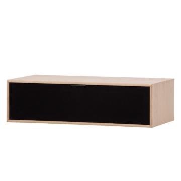 TV-Board Danilo - Eiche Dekor / Schwarz - 77 cm