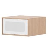 TV-Board Danilo - Eiche Dekor / Weiß - 40 cm