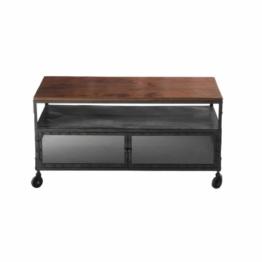 tv lowboard aus beschichtetem textil auf rollen cinema tv. Black Bedroom Furniture Sets. Home Design Ideas