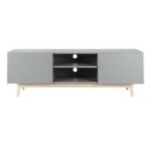 TV-Lowboard im Vintage-Stil aus Holz, B 150cm, grau
