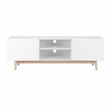 tv lowboard im vintage stil aus holz wei tv. Black Bedroom Furniture Sets. Home Design Ideas